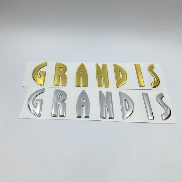 Car 3d Sticker For MITSUBISHI Grandis Emblem Rear Tail Nameplate Gold / Silver Logo