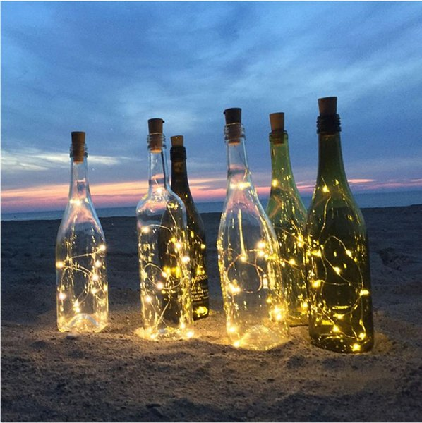 Good 2M LED Garland Copper Wire Corker String Fairy Lights for Glass Craft Bottle New Year/Christmas/Valentines Wedding Decoration