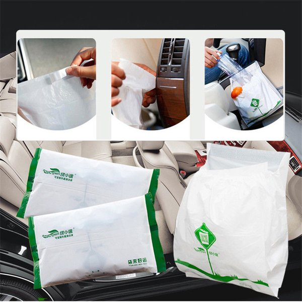 High-quality 15Pcs Disposable Waterproof Car Vehicle Garbage Can Auto Trash Bag Hanging Bin Storage Bag Free Shipping