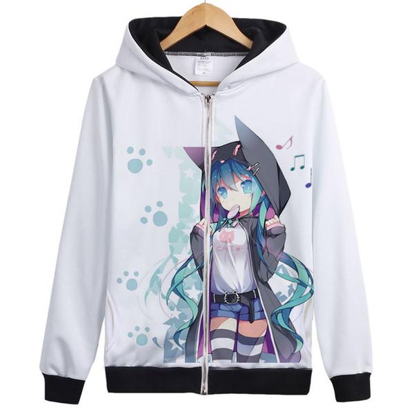 Vocaloid Matryoshka Hatsune miku Kagamine Len Rin Gumi Costume Cosplay Top manteau Veste À Capuche hoodies Unisexe Anime Sweat À Capuche