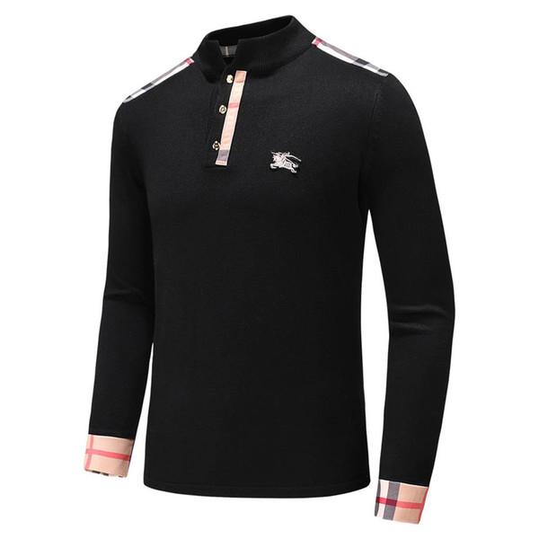 Мужская вязать пуловеры дизайнер свитер мужчины O-образным вырезом повседневная вязание джемперы свитера Мужские длинные пуловеры известный бренд женщин свитер XU23