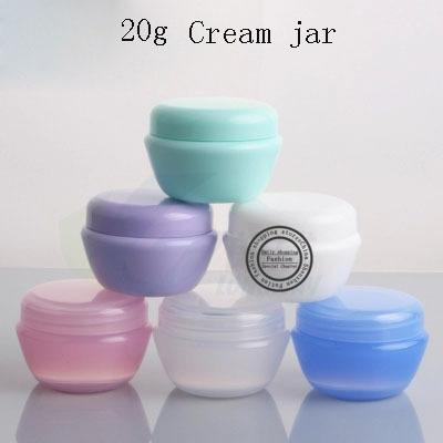 Hot sale 40pcs,20g small Mushroom Cream jar,empty plastic container for cosmetic packaging , factory price