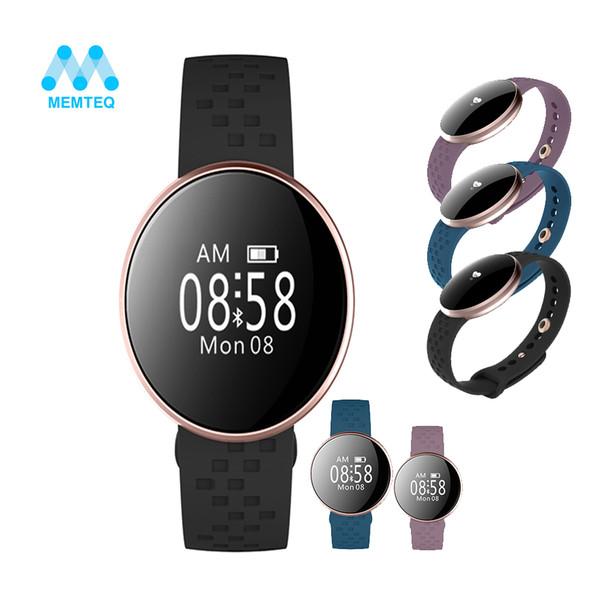 Corazón b16 inteligente pulsera de relojes de aluminio de la manera Rate Sleep Smart Monitor deportes del reloj de pulsera Negro Azul Púrpura