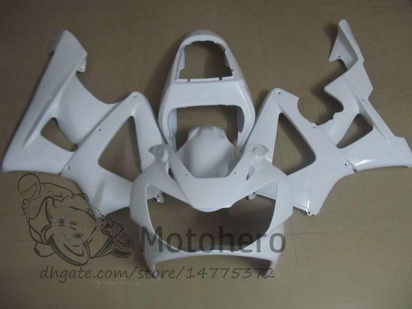 Honda CBR Için yüksek Kalite ABS Plastik Fit 929 900 RR 929RR 00 01 900 2000 2001 CBR900RR Motosiklet Kaporta Kiti Tüm Beyaz Kaporta
