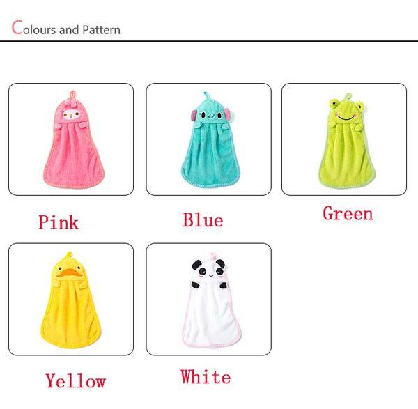 d6974fc53df3 5 Style Cartoon Handkerchief coral fleece hand towel kitchen hanging water  absorbent cloth dish cloth V
