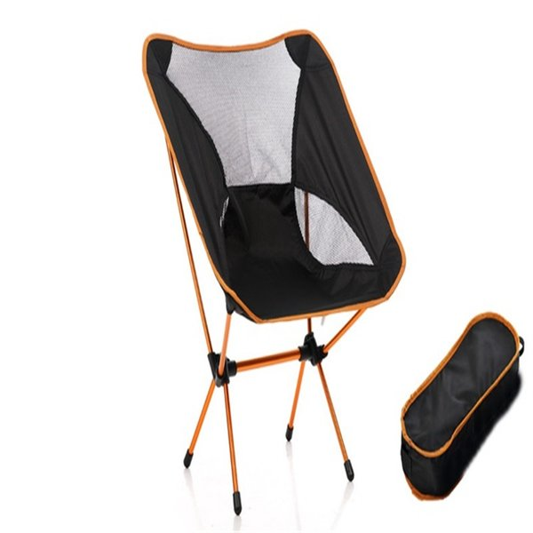 Aluminium Alloy Folding Chairs Relaxing Time Sketch Backchair Ultra Light Moon Chair Outdoors Camping Sit Down Relax 75gc ii