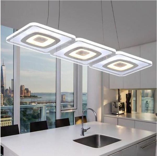 SVITZ Modern commercial lighting Office led pendant lights glass room square pendant lamp Kitchen led Lamparas Colgantes Free delivery