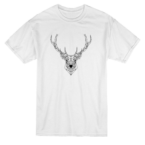 12b345a45ea1 Deer Vector Outline Graphic Design Men's T-shirt Mens 2018 fashion Brand T  Shirt O