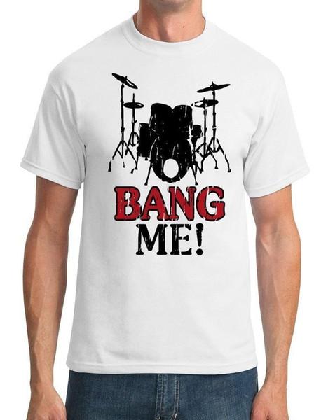 Personalizado Impresso T Camisas Homens Curto Baterista Me Engraçado Dos Homens T-Shirt Dos Homens S Vestido Ocasional Camisa O-pescoço Moda 2018 Camisetas