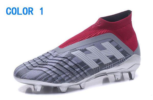 Zapatillas de fútbol Adidas Youth Girl Niños más baratos para hombres Mujeres Predator 18 FG Botines de fútbol Niños Botas de fútbol Niños Botas de