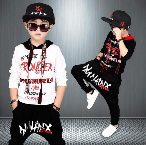 2019 Sonbahar Bahar Boys Giyim Seti Spor Çocuk Giyim Setleri Tops Hoodies Pantolon Boys Giyim 3 4 5 6 7 8 9 10 11 12 Yıl