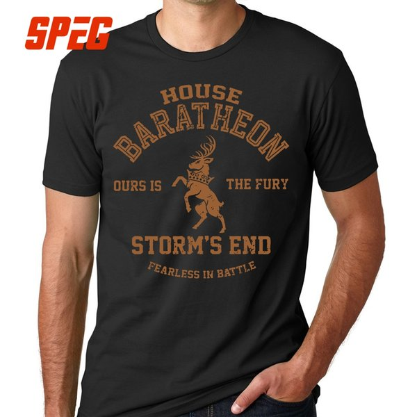 T Shirts House Baratheon Ours Is The Fury Storm's End Tees Game Of Thrones T Shirt Men Adult 100% Cotton For Male O Neck Vintage