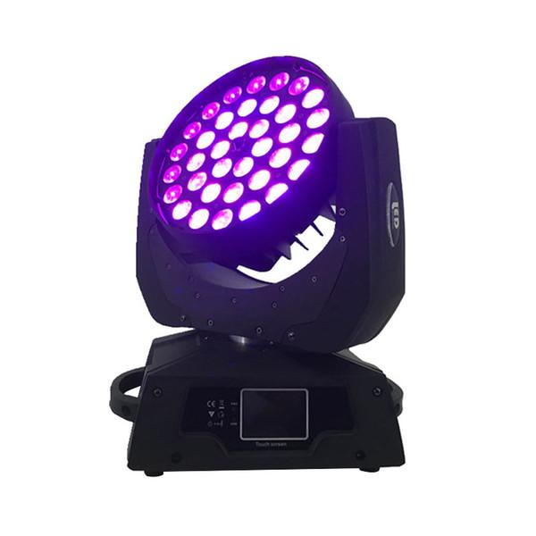 2pcs / lot LED Wash 36x18W 6in1 RGBWA + UV LED Lumière principale mobile avec Zoom Dj Disco Club Fête de mariage Éclairage à effet de scène