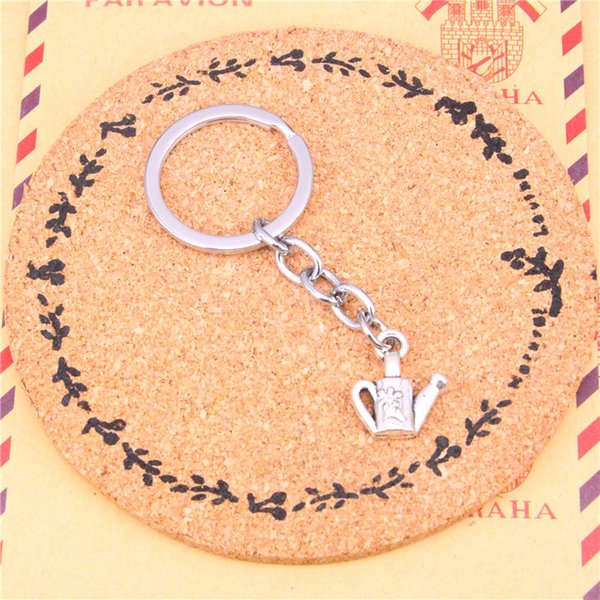 Keychain watering can gardening Pendants DIY Men Jewelry Car Key Chain Ring Holder Souvenir For Gift