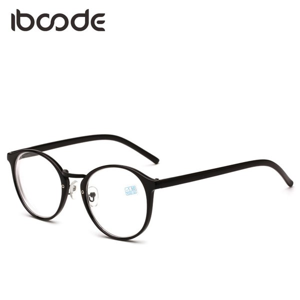 6389f956e7 iboode Myopic Glasses Hombres Mujeres Gafas redondas Vista corta Estilo del  arte Miopía Marco negro -