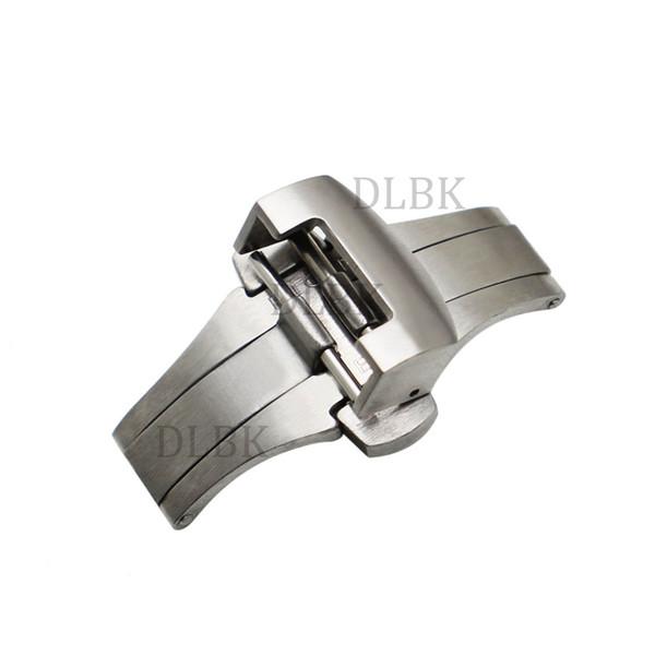 Часы аксессуары 20 мм 22 мм Мужчины Женщины матовый нержавеющей стали твердые часы группа развертывания пряжки ремень Ремень застежки для Panerai