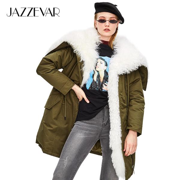 Jazzevar Pelzmäntel Mongolische Großhandel Dicke 90Daunenjacke 2018 Neue Echte Street Luxuriöse Oberbekleidung Übergroß Damen High Winter Fashion iuTZkwOPX