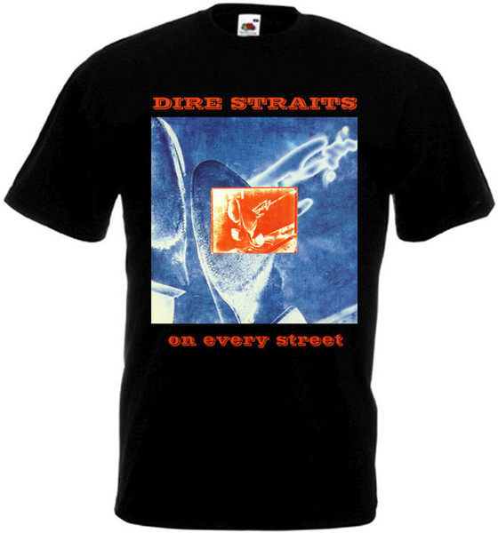 Dire Straits - On Every Street T-shirt black poster all sizes S...5XL