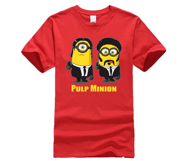 MEN T SHIRT Pulp Minion Pulp Fiction Parody Despicable Me T-Shirt Funny Cool Men Ladies Gift Summer Men Tee