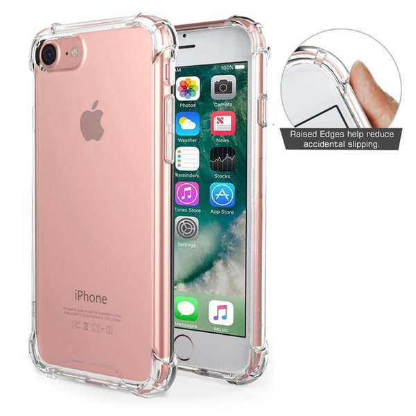 Per iPhone X XS MAX XR 8 Plus 7 6 6S Custodia trasparente antiurto Custodia morbida per TPU trasparente Cover Free DHL