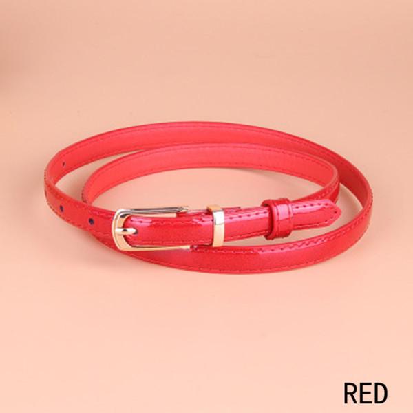 HOT Candy color cinturones de cuero de moda cinturón delgado rosa encantadora pequeña cummerbund para las mujeres de oro pin hebilla correa niñas envío gratis