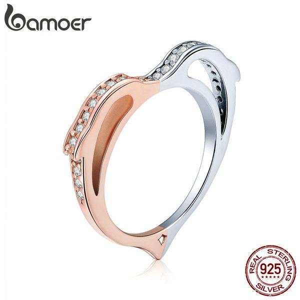 Anelli d'argento delfino dell'argento sterlina 925 per le donne Regalo di gioielli di fidanzamento di nozze dell'anello a forma di cuore di colore dell'oro