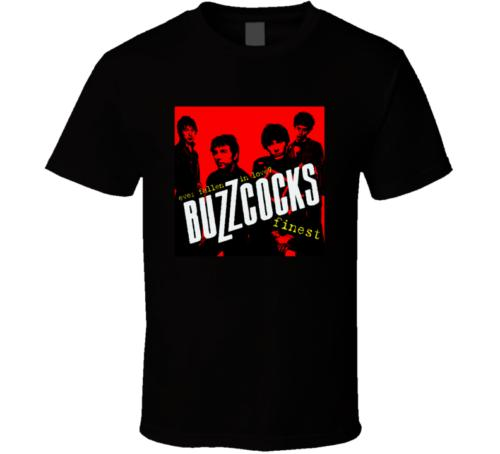 Buzzcocks Rock band logo music black White tshirt men's T shirt free shippingFunny free shipping Unisex Casual
