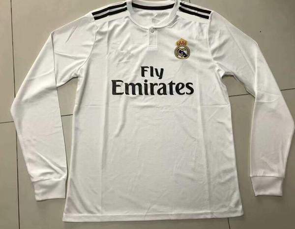 2018 19 Maglia da calcio Ronaldo ASENSIO SERGIO RAMOS ISCO T-shirt da calcio Manica lunga da football Jeresys Home Away