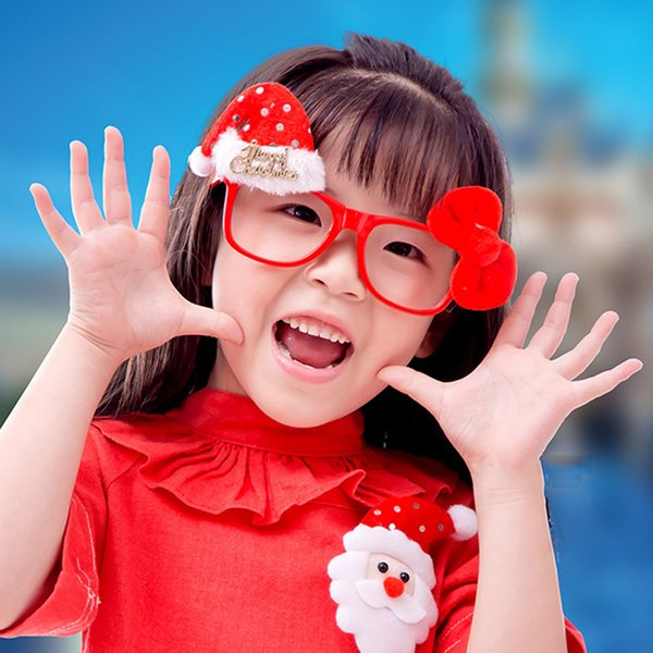 Christmas 2018 Gifts Toys For Kids Children Baby Glasses Snowman Santa Claus New Year Decorations Elk Home Eyeglass Xmas Party Y18102609