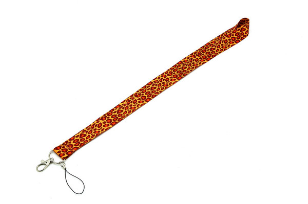 The most popular Leopard Print Lanyard for ipod cell phone iphone key chain lanyards wholesale Free shipping