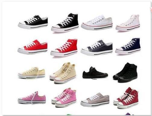 14 colors Credible Shoes For Men Women Sneakers Run Sport Casual Low High Top Classic Skateboarding Canvas Cheap