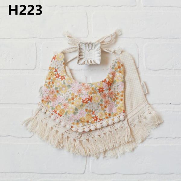 INS hotsale free shipping baby bibs burp cloths 100% cotton more designs fashion infant feeding bandana bibs double layer