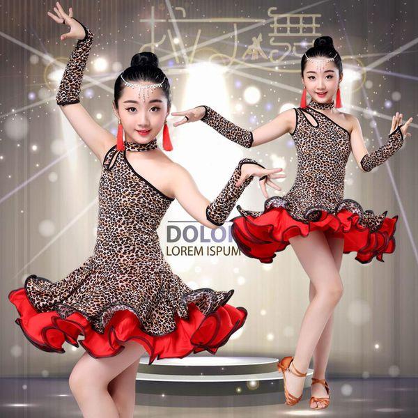 c1f7cce2c8166 2019 Leopard Grain Latin Dress Children Dance Dress For Girls Cha Cha Kid  Competition Girl Latin Dancing Dancewear Kids Costume From Clothfirst, ...