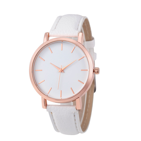 best selling Fashion simple popular Unisex mens women lady students leisure leather watches casual dress quartz sport wrist watches for men women