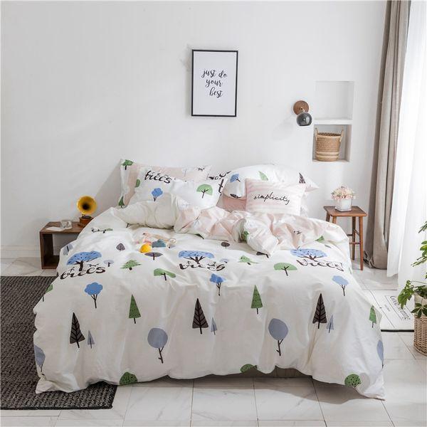 Teen Duvet Cover Tree Printed Bedding Sets Queen Bed Set Sheet Pillowcase  Simple Bedding Kids Duvet