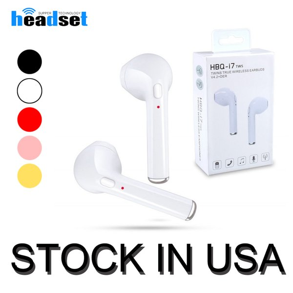 Ship From USA Original HBQ i7 bluetooth earphone TWS Twins True Wireless headphones Mini earbuds headset with package