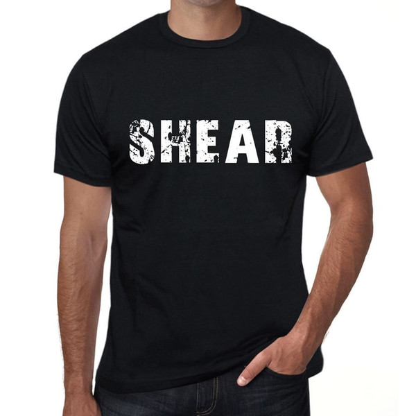 shear Hombre Camiseta Negro Regalo De Cumpleaños 00553