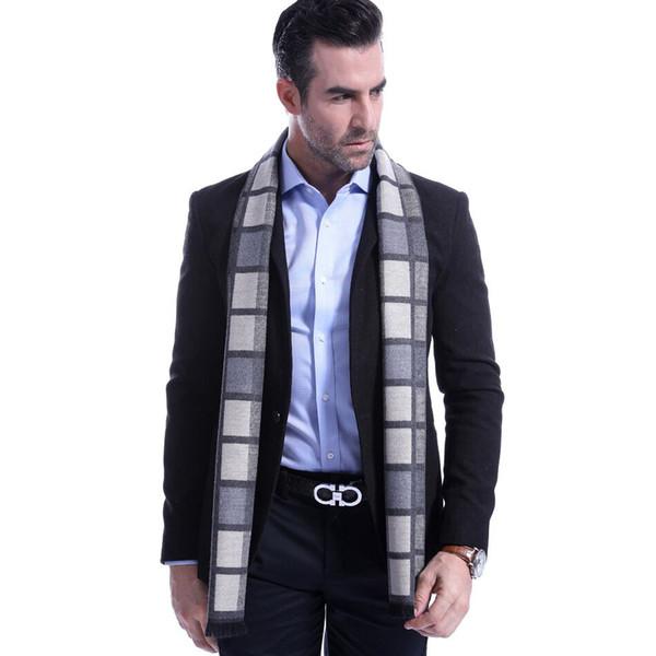 High Quality Men Scarf 2018 Autumn Winter Vintage Soft Plaid Scarf Men's Imitation Cashmere Brand Business Casual Scarfs