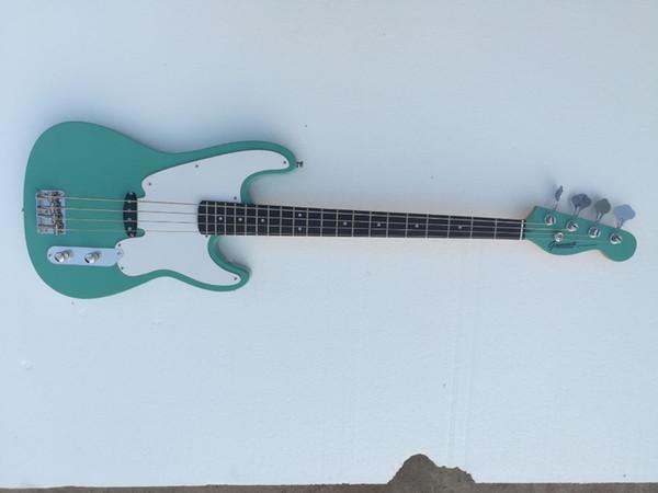 Фабрика Оптовая GYPB-6009 Drak зеленый цвет белая пластина палисандр гриф 4 строки точность бас-гитара, Бесплатная доставка