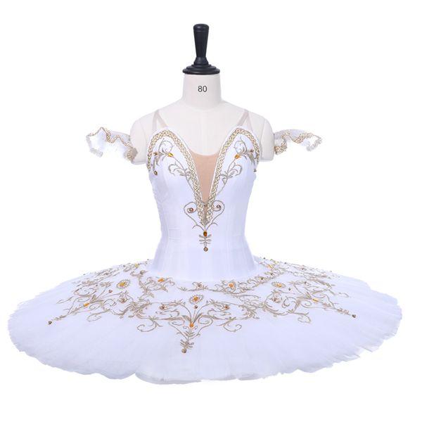 Adult White Professional Ballet Tutu Girls Classical Ballet Stage Cosutme Junior Sleeping Beauty Tutu Performance BT9234C