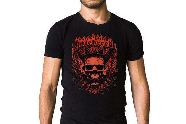 Hatebreed Taç Logo T-Shirt Ucuz Satılık% 100% Pamuk T Shirt Erkek Yeni Erkek Moda Kısa Kollu T Gömlek Mens