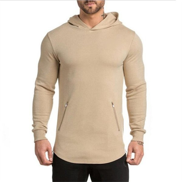 Wholesale- Gyms Hoodie men Clothes Bodybuilding Sweatshirt Warm Shark zipper conventional Cotton sportswear Pullover Tracksuit male hoodies