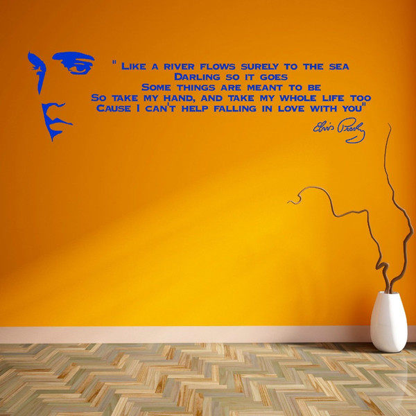 Elvis Presley Song Lyrics Like A River Vinyl Wall Art Sticker Room ...