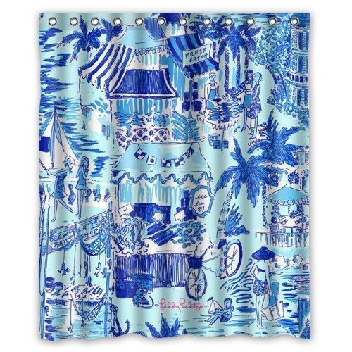 cb47efce979a1 Lilly Pulitzer Summer Prints Blue Custom Shower Curtain 60 x 72