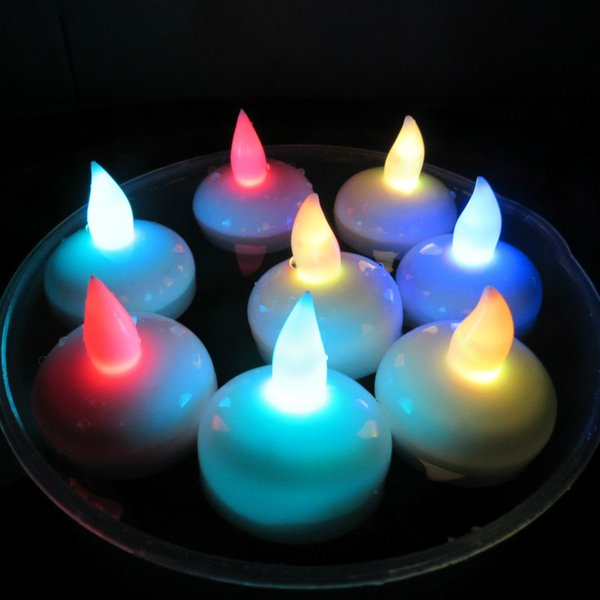Moda nueva batería LED lámpara de vela 4 colores llama intermitente té luz hogar boda fiesta de cumpleaños decoración regalo