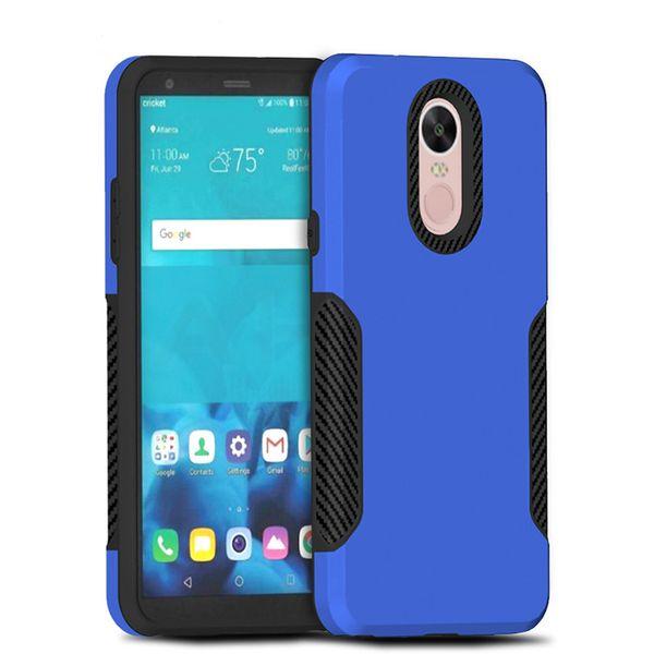Hibrid Zırh Vaka Motorola Moto E5 Artı Moto E5 Oyna Karbon Fiber Kılıf LG Stylo 4 LG Aristo 2 Metropcs