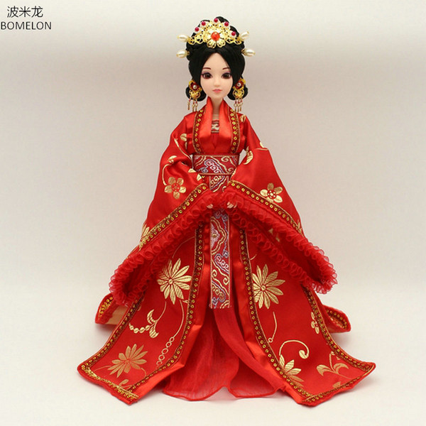 Pure Handmade Chinese Ancient Costume Doll Clothes for 29CM Kurhn Doll or OB27 Bjd 1/6 Body Girl Toys Dolls Accessories