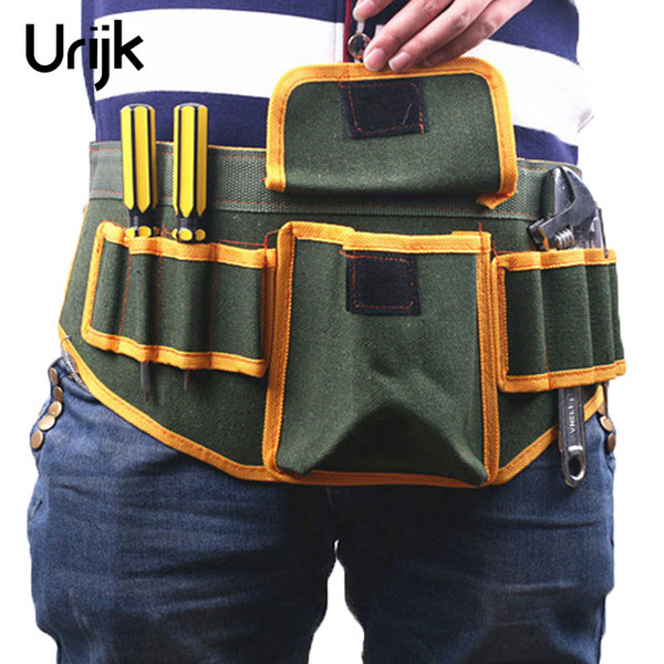 Urijk Adjustable Waist Belt Hardware Tools Pockets Electrical Tool Bags Construction Packs Thicker Canvas Bag Without Tool