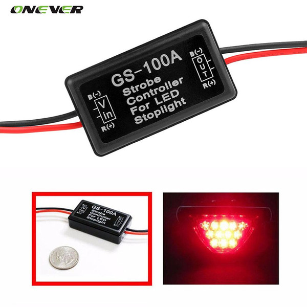 best selling GS-100A 12--24V Flash Strobe Controller Flasher Module for LED Flashing Back Rear Brake Stop Light Lamp Car Accessories