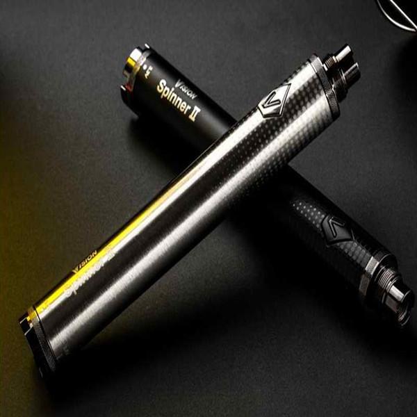 Rainbow Vision Spinner 2 1650mAh batterie 3.3V-4.8V E-Cigarette à tension variable pour CE4 protank 3 clearomizer de haute qualité vente chaude gratuite